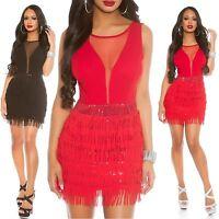 Women's Sexy Fringe Mini Dress - S/M/L