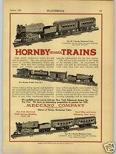 1928 PAPER AD Hornby Toy Mechanical Trains Meccano Co M 1 2 3 Madison Washington