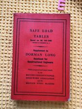 More details for safe load tables ,  dorman long 1950 , scarce first edition