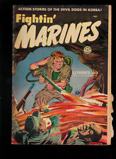 Approved Comics 11 Fightin Marines Baker Violent Flamethrower cover torn/miscut