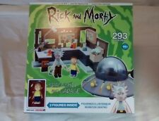 Rick and Morty Spaceship and Garage Interlocking Construction Set 293 Pieces