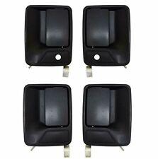 NEW 4pc Outside Exterior Door Handles Set Black for 99-16 F250 F350 Super Duty