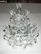 Clear Glass Flower Bud Vase Cluster,The Original Design Floral Arranger, 2 Piece
