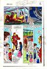 Original 1983 Invincible Iron Man 177 page 2 Marvel Comics color guide art:1980s