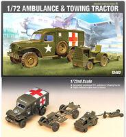 1/72 AMBULANCE & TOWING TRACTOR #13403 ACADEMY HOBBY MODEL KITS