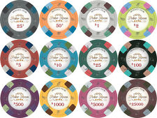 NEW 400 PC Monaco Club 13.5 Gram Clay Poker Chips Bulk Lot Mix or Match Chips