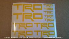 TRD Emblems / Stickers / Decals - assorted, 11 total, multiple colors