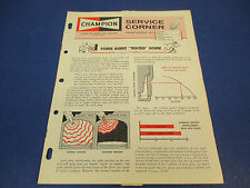 Champion Spark Plug Service Corner Jan/Feb 1964 Power Bandit Tracked Down