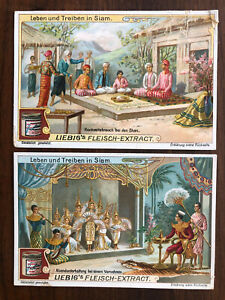 2 X THAILAND SIAM OLD CARD COLLECTION LOT SIAMESE KING WEDDING DANCE !!