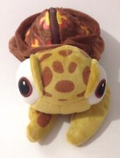 "Disney Store Finding Nemo Squirt the Turtle 10"" Plush Zippered Purse Backpack"