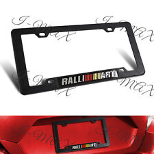 1PCS RALLIART Car Trunk Emblem with ABS License Plate Tag Frame for Mitsubishi