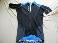 Mens Shimano Accu-3D Short Sleeve Road Cycling Jersey Size L Blue and Black