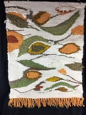 Vintage Mid Century Handwoven Wall Hanging Tapestry Weaving Textile Modern