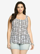 Polyester Animal Print Unbranded Plus Size Tops & Blouses for Women