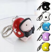 EB_ Cute Motorcycle safety Helmet Shape Keychain Keyring Hanging Pendant Key Hol