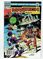 Man Tech Robot Warriors #1 Canadian Newsstand Price Variant 1984 Rare