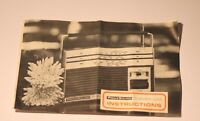 VINTAGE PRINZSOUND 77 GRAND LUXE RADIO INSTRUCTIONS ONLY