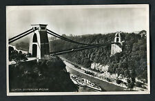 Posted 1953: Paddle Steamer Boat under Clifton Suspension Bridge