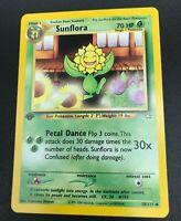Sunflora 1st Edition Uncommon 50/111 Neo Genesis Pokemon TCG Card NM 2000