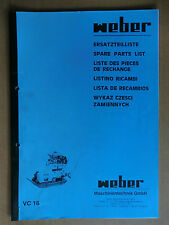 Ersatzteilliste Weber VC 16 Verdichter Rüttelplatte Spare Parts List Listino