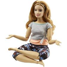 Barbie Made to Move Floral Leggings Strawberry Blonde Peach & Gray Top Curvy