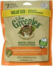 Greenies FELINE Dental Treats for Cats Oven Roasted Chicken Flavor 5.5 oz.