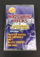 New Wrestling Rocks Anthems Of the Ring Cassette Ramones Alice Cooper Sealed 90s