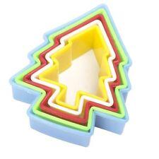 De Varios Colores Fondant Cookie Cutter Conjunto de árbol de Navidad