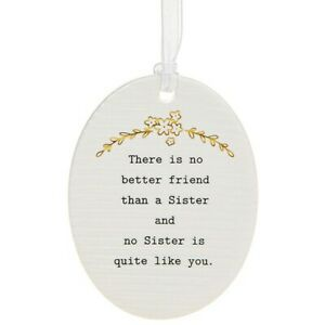 Thoughtful Words Plaque : There Is No Better Friend Than A Sister...