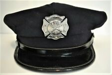 Vintage GREEN VALLEY FIRE DEPARTMENT Dress Hat With Badge