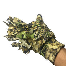 Hunting Sneaky 3D Leaf Camouflage Gloves Jungle Woodland Stealth Ghillie Glove