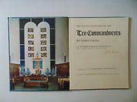 "RARE ""Chaim Gross"" The Sculpture Reliefs of the Ten Commandments Hand Signed COA"