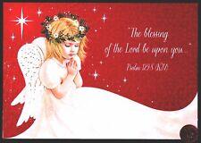 Christmas Angel Praying Wings Stars Religious - Christmas Greeting Card - New