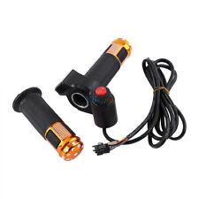 Twist Throttle Grips 3 Speed Switch Digital Display Screen Bike Handle for Ebike Golden