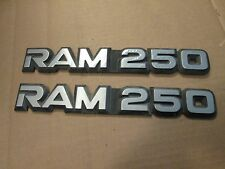81-93  Dodge RAM 250 Fender Badges Emblems OEM diesel 84-92 ((PAIR))