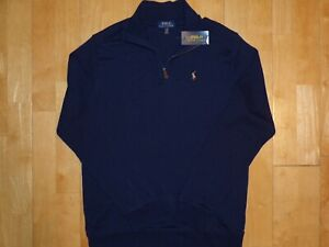 NEW with TAGS POLO by RALPH LAUREN Youth Kids Boys XL Pullover Sweater 1/4 Zip