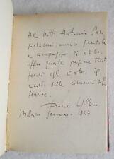 Franco Sigillino TACCUINO ROMANTICO DELL'ESILIO 1946 libro autografato autore