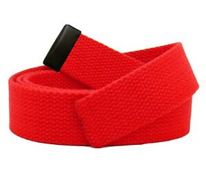 Replacement Canvas Web Belt 1.25 Military Width Black Tip Assorted Colors