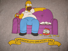 1997 HOMER SIMPSON Springfield's Greatest (LG) Shirt Matt Groening The SIMPSONS