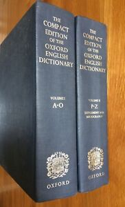 The Compact Edition Of The Oxford English Dictionary Volume 1 & 2 - 1971