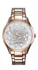 Esprit Damenuhr Uhr Edelstahl Rosé Muster Quarz Armbanduhr ES109022003