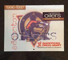 1996-97 EDMONTON OILERS SHOPPERS DRUG MART CALENDAR