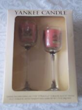 Yankee Candle Boxed Set of 2 stemmed votive holders - Home Sweet Home candles