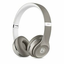 Beats Solo2 On-Ear Headphones Luxe Edition - Silver(Wired)