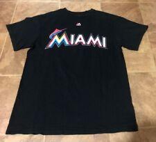 Giancarlo Stanton Majestic Medium Shirt Jersey Miami Marlins Orange Black