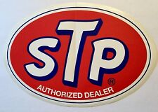 STP Large VINYL STICKER 12 INCH Racing Dealer NASCAR Race Car Free Shipping Oil