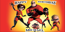 Birthday banner Personalized 4ft x 2 ft The Incredibles