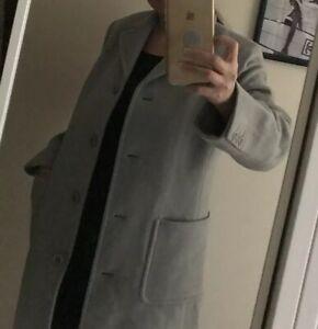 New . J Crew Wool Coat Size Small Grey