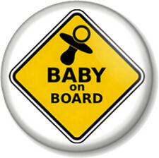 BABY ON BOARD SIGN Pin Button Badge Mother Mum to Be Shower Gift Present Dummy