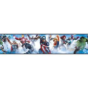 New Marvel Avengers Peel & Stick Wallpaper Border Removable Kids Room Wall Decor